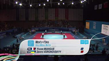 Y. Miangue (FRA) v D. Voronovskyy (UKR) - Taekwondo   2014 YOG Nanjing