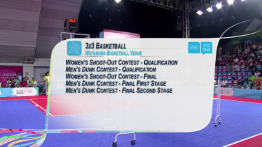 Damen Shoot-Out und Herren Dunk Wettbewerb - 3x3 Basketball   2014 OJS Nanjing