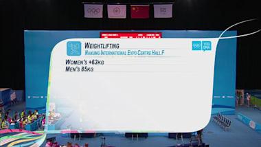 Halterofilia, +63kg femenino | JOJ Nankín 2014