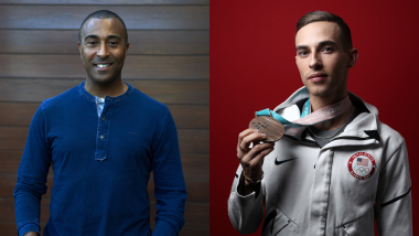 What do Colin Jackson and Adam Rippon have in common?