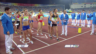 Modern pentathlon running event | Beijing 2008 Replays