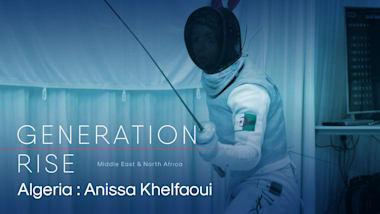 Anissa Khelfaoui: Algerian legends boost fencer's Olympic training