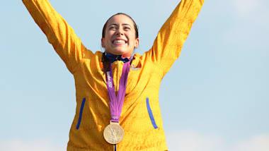 BMX cycling gold medal ceremony for Mariana Pajon | London 2012