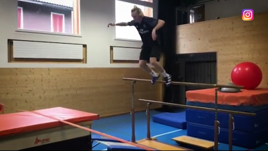Watch this slopestyle star take training to the next level