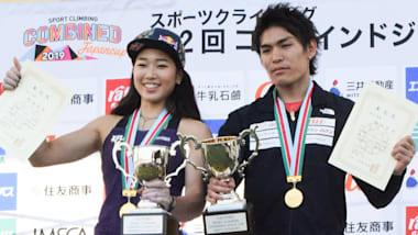 クライミング複合ジャパンカップ2019:女子決勝で野中生萌が女王・野口啓代を破っての初優勝