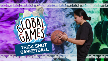 Trick-Shot Basketball