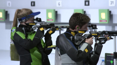 Mixed International Team 10m Air Rifle – Shooting | YOG 2018 Highlights