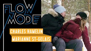 La course de Charles Hamelin et Marianne St-Gelais dans une forêt enneigée