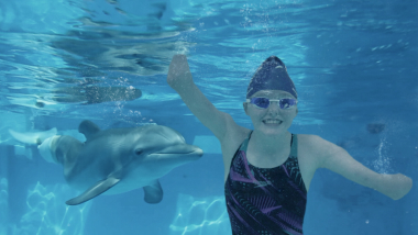 Ellie and Winter: Meet para swimmer inspired by a dolphin with no tail