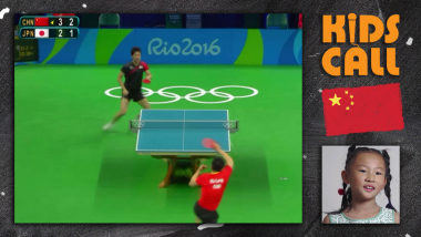 Kids call Ma Long's epic table tennis rally from Rio 2016