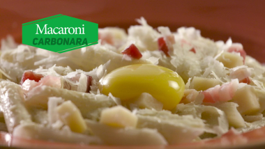 Macaroni à la carbonara