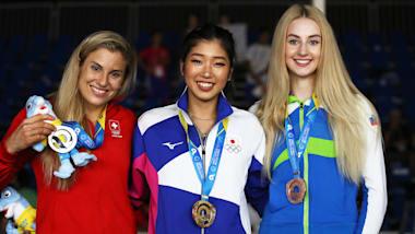 世界ビーチ大会でスケボーパークの四十住さくら、クライミングの野中生萌、原田海らが金メダル