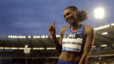 Dina Asher-Smith wins women's 100m Diamond League title in Brussels
