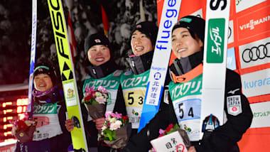 スキージャンプW杯女子団体第1戦:日本は地の利を生かせず3位…ドイツが団体戦を制す