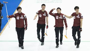 世界男子カーリング選手権3日目、日本代表コンサドーレが初黒星で4勝1敗に