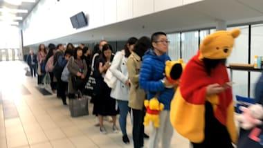 Fans queue to see Yuzuru Hanyu in practice