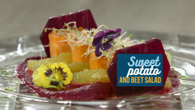 Sweet potato and beet salad