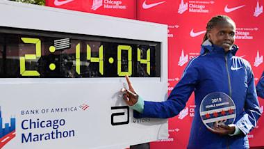 【女子マラソン】ブリジッド・コスゲイが16年ぶりに世界記録更新、2時間14分4秒