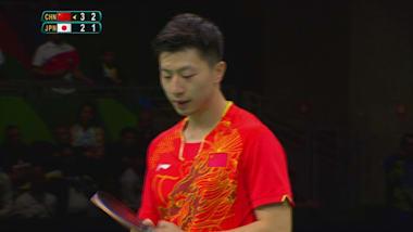 男子卓球中国代表スター馬 龍の異次元なラリー