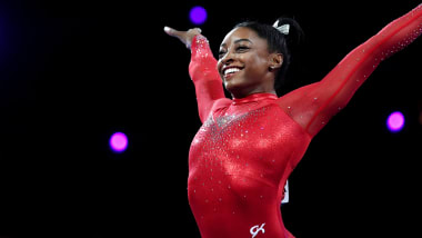 Simone Biles wins record-equalling 23rd World Championship medal