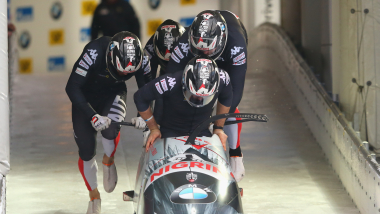 Four-Man Bobsleigh - Run 1 | IBSF World Cup & European Championships - Königssee