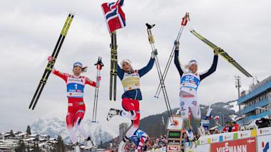 ノルディックスキー世界選手権クロスカントリー女子30km、ノルウェーが金銀獲得...日本勢は上位食い込めず