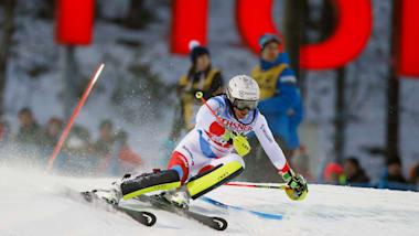 여자 슬랄롬 (Run 1)   FIS 월드컵 - 레비