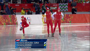 The polish women's speed skating team in Vancouver 2010