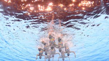 团体自由自选预赛   艺术游泳 - FINA 世锦赛 - 光州