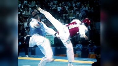 Insane roundhouse kick for taekwondo gold at Athens 2004