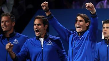 テニスのレーバー杯、2日目は2勝2敗の五分…勝負の行方は3日目へ