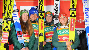 スキージャンプ女子団体第2戦、日本は4位で表彰台逃す...ドイツが2連勝