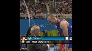 Kyle Shewfelt in Athens 2004