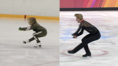 Plushenko junior follows in his father's footsteps