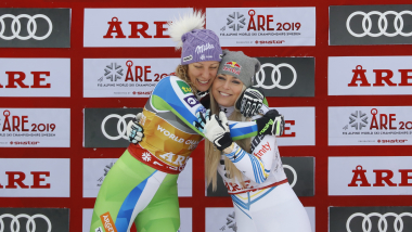 Vonn third in final race as Stuhec retains downhill world title
