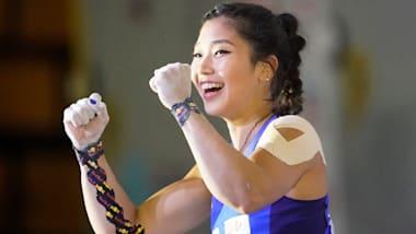 スポーツクライミング世界選手権:女子複合決勝・スピードは野中生萌が日本人最上位の4位に