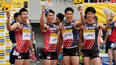 陸上セイコー・ゴールデンGP大阪、男子400mリレーで日本が優勝