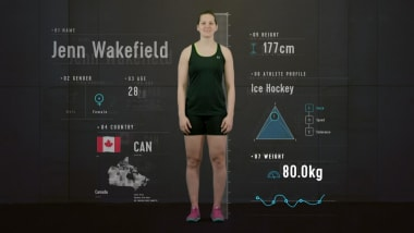 Anatomy of an Ice Hockey Player: Jenn Wakefield reveals explosive power