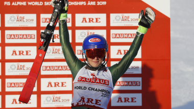 Mikaela Shiffrin wins historic fourth straight slalom world title