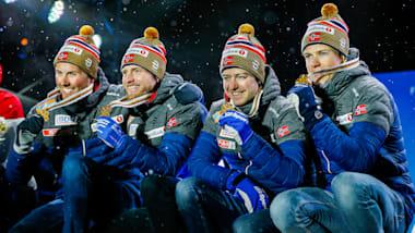 4x10キロリレーでノルウェーが10連覇達成 - ノルディックスキー世界選手権