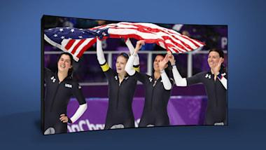 Pattinaggio velocità femminile USA | PyeongChang 2018 | Take the Mic