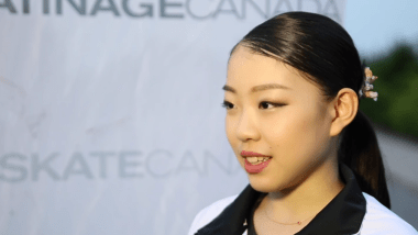 Rika Kihira speaks after her Autumn Classic triumph