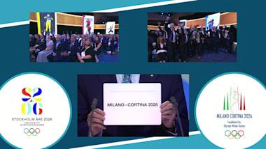 观看:米兰-科尔蒂纳丹佩佐获得2026年冬奥会主办权的历史时刻