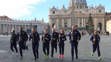 Könnten wir die Flagge des Vatikans bei den Spielen sehen?