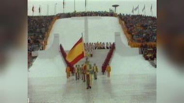 Desfile de atletas - Espanha - Cerimônia de Abertura em Innsbruck 1976