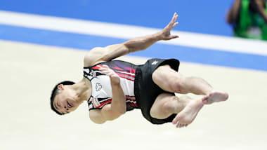 全日本体操種目別選手権予選:神本雄也が平行棒、鉄棒でトップ通過。白井健三は床運動で2位、跳馬で4位