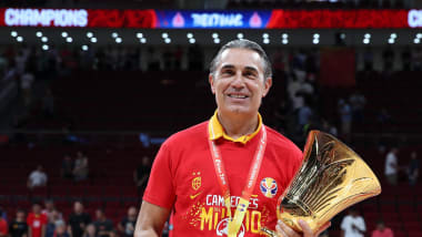 Coach Sergio Scariolo leads Spain to FIBA World Cup crown