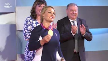 Lydia Valentín recibe finalmente su oro olímpico