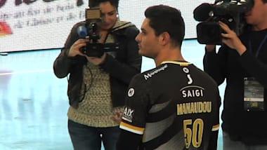 How far can swim star Florent Manaudou go as a handball player?