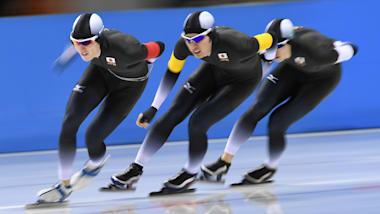 スピードスケートW杯第3戦、団体追い抜きで日本が男女ともに金…高木美は1000Mで2位